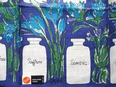 Spicy lady. MWT Vera Neumann linen kitchen towel by fuzzandfu, $36.00