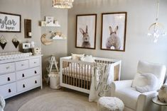 Goal: create a classic, feminine, sweet nursery WITHOUT the use of pink. GOAL AC… Goal: create a classic, feminine, sweet … Baby Nursery Diy, Baby Room Diy, Baby Bedroom, Baby Room Decor, Baby Boy Nurseries, Nursery Room, Bunny Nursery, Diy Baby, Baby Cribs