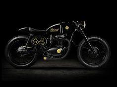 BELSTAFF CAFÉ RACER BSA A65 motorcycle by Taras Kravtchouk