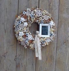 Emlékek őre - őszi, vintage ajtódísz, Otthon, lakberendezés, Dekoráció, Dísz, Meska