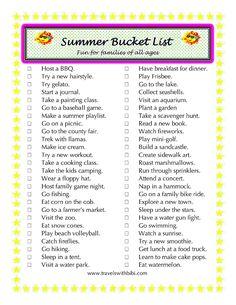 Summer Bucket List Get the kids outside and enjoy quality family time. Summer Fun List, Summer Bucket Lists, Summer Kids, Summer Goals, Summer Activities, Family Activities, Indoor Activities, Bored Jar, Fun Bucket