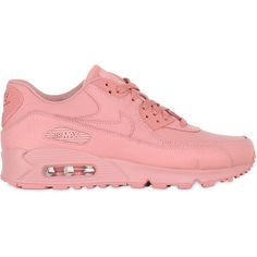 Nike Women Nikelab Air Max 90 Pinnacle Sneakers ($220) ❤ liked on Polyvore featuring shoes, sneakers, pink, pink shoes, leather upper shoes, pink sneakers, waffle shoes and nike footwear
