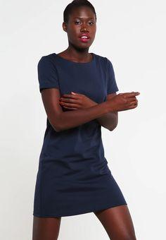 Vila VITINNY - Jerseyklänning - total eclipse - Zalando.se Captain Stacy, Total Eclipse, Shirt Dress, Casual, Shirts, Dresses, Bathroom, Fashion, Blue