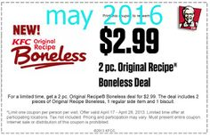 Kfc Coupons Ends of Coupon Promo Codes MAY 2020 ! Worlds Louisville, the The 2018 Fried Wingstreet sales after It Hut, owns is fast y. Kfc Printable Coupons, Kfc Coupons, Grocery Coupons, Online Coupons, Print Coupons, Free Printables, Kfc Offers, Kfc Original Recipe, Dollar General Couponing