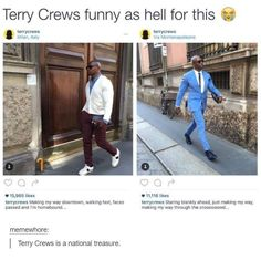Terry Crews is hilarious Tumblr Funny, Funny Memes, Hilarious, Funny As Hell, The Funny, Making My Way Downtown, Terry Crews, White Chicks, Brooklyn Nine Nine