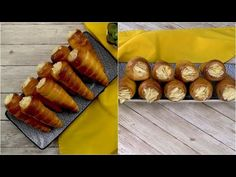 Custard pastries: a sweet treat ready in no-time! - YouTube Party Desserts, Dessert Party, Party Recipes, Custard Slice, Youtube Cooking, Vanilla Sugar, Sliced Almonds, Dry Yeast, Pastries