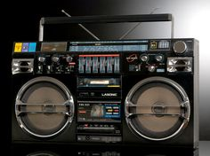 """Vintage boombox ghettoblaster. DrmZ_Lasonic_TRC_931_02 