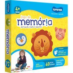 Jogo Toyster Memoria Português, Inglês e Espanhol