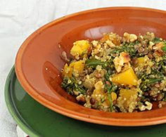 Quinoa and Lentils with Butternut Squash and Rapini : The Humane Society of the United States