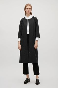 COS image 1 of Belted wool dress in Black