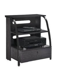TV-Gaming-Stand-Wood-Metal-Shelves-Drawer-Living-Den-Bedroom-Organize-Dorm-Kid