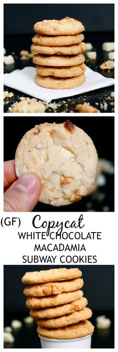 COPYCAT SUBWAY White Chocolate Macadamia Cookies Recipe- Chewy, chock full of the good stuff AND better than the original! {gluten free + vegan option}