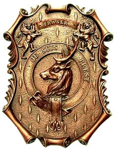 """The FRASER Clan Crest is a Buck's Head and the proud Fraser Clan MOTTO is """"Je suis prest"""" meaning in French """"I am ready"""". (As I learned in """"Outlander"""". Diana Gabaldon Books, Diana Gabaldon Outlander Series, Outlander Book Series, Outlander Season 1, Outlander 3, Sam Heughan Outlander, Outlander Quotes, Fraser Clan, Jamie Fraser"""