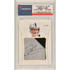Derek Carr Oakland Raiders Fanatics Authentic Autographed 2015 Panini National Treasures #DC Card Containing a Piece of Game Worn Patch- Limited Edition of 99 - $219.99