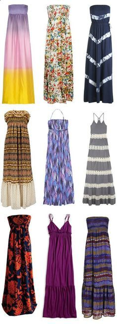 long dresses for summer...with a cardigan over of course