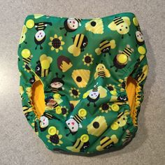 AI2 Medium-Large Cloth Diaper with two Soakers by BundledBundies on Etsy