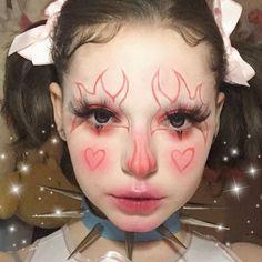 Punk Makeup, Edgy Makeup, Grunge Makeup, Clown Makeup, Crazy Makeup, Pretty Makeup, Makeup Inspo, Makeup Art, Halloween Makeup