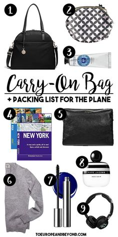 How To Pick The Perfect Carry-On Bag + My Packing List via @marievallieres
