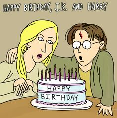 Happy J.K. Rowling And Harry Potter Birthday Day