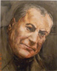 Fikret Mualla (selfportrait). Eugene Ionesco, French Sculptor, Male Portraits, John Singer Sargent, Bernard Shaw, Caravaggio, Artist Painting, Selfies, Illustration Art