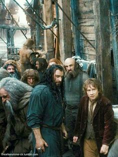 Thorin, Bilbo and Company In Laketown. The Hobbit: The Desolation Of Smaug.