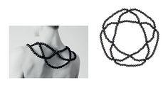 'Black Lace Neckpiece' vonSaskia Diez.