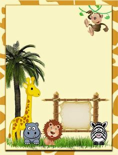 Resultado de imagen de jungle safari food labels free printable cute the jungle free printable invitations labels or cards stopboris Choice Image