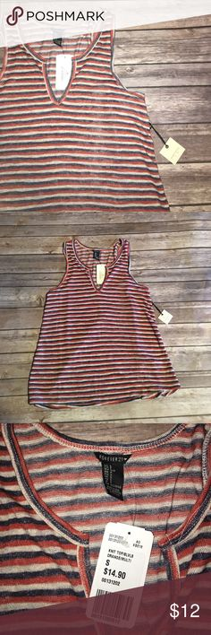 NWT F21 KNIT STRIPED TANK New with tags. Forever 21 Tops Tank Tops