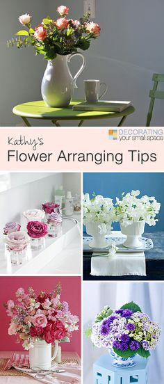 Kathy's Flower Arranging Tips • Great tips  ideas for arranging flowers!
