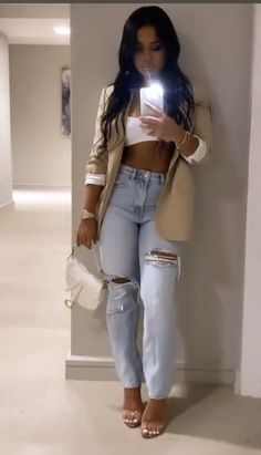 Boujee Outfits, Blazer Outfits, Basic Outfits, Going Out Outfits, Summer Outfits, Fashion Outfits, Business Casual Outfits, Cute Casual Outfits, Simple Outfits