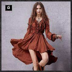 Spain style bohemian hippie long sleeve v neck asymmetrical dress 2016 women autumn spring boho ruffles dresses vestidos-in Dresses from Women's Clothing & Accessories on Aliexpress.com | Alibaba Group