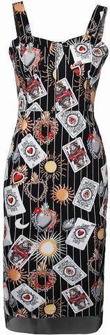 Tarot Card Print Knee-Length Dress