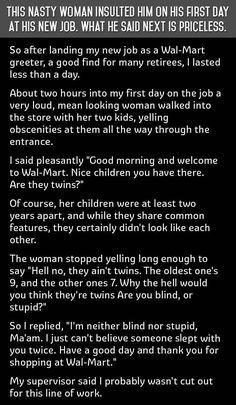 awesome A Nasty Customer Insults This Man But What He Said Next Is Priceless... funny jokes story lol funny quote funny quotes funny sayings joke hilarious humor stories funny jokes