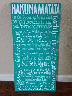Disney Quote Sign by HandleWithLuv on Etsy, $30.00