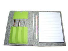 Taschenorganizer - Organizer inkl. Din A5 Block Filz Leder Farbwahl - ein Designerstück von artistalista bei DaWanda