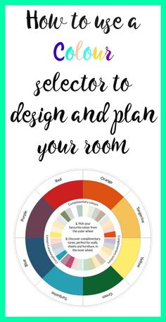 How to use a colour selector to design and plan your room . We all love a room to work, to have a cohesive look to it but it can be difficult to work out what goes well can' it. Here are some tips to using a colour wheel to design a room that will work fo