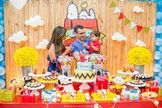 Blog maternidade Meu Dia D Mãe - Festa Menino Pedro 01 Ano - Decoração Snoopy Amarela e vermelha (33)