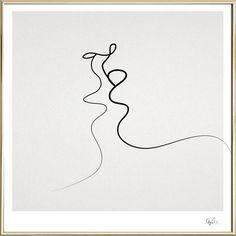 Kiss als Poster im Alurahmen von Quibe | JUNIQE