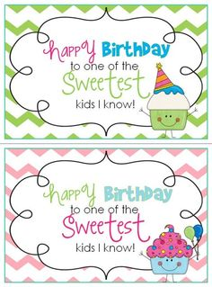 Birthday certificate FREEBIES from the blog: First Grade Parade. :-)