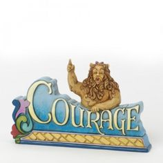 Courage-Cowardly Lion Inspirational Figurine