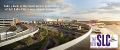 Rendering of Terminal Drive, approach into the new airport facility. Salt Lake City Airport, Salt Lake City News, Slc, International Airport, Airports