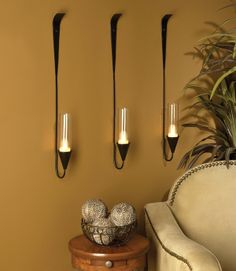 Love these wall sconces.