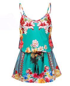 Vestido Floral de Alcinhas