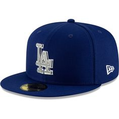 Men s Los Angeles Dodgers New Era Royal Metal   Thread 59FIFTY Fitted Hat f803997f60ae