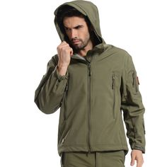 Camping Softshell tactical Jacket Outdoor Men Mammoth Mountain Climbing…