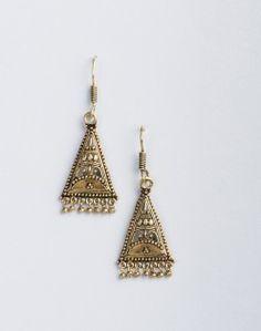 Metal Anusuya EM 333 Dangle Earrings Metal Jewelry, Dangle Earrings, Hand Weaving, Dangles, Jewelry Design, Unique, Silver, Shopping, Accessories