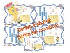 Cartes à tâches les nombres de 0 à 100 / dizaines et unités Math Resources, Bingo, Montessori, Classroom, Map, Education, School, Cycle 2, Tens And Units