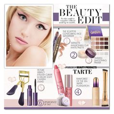 """""""Foreign Beauty products:TARTE"""" by alves-nogueira ❤ liked on Polyvore"""