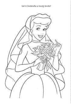 Wedding Wishes cinderella prince charming princess disney Cinderella Coloring Pages, Wedding Coloring Pages, Disney Princess Coloring Pages, Disney Princess Colors, Disney Colors, Cool Coloring Pages, Coloring Books, Coloring Sheets, Disney Crafts