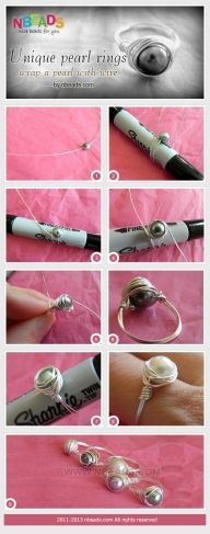 Unique Pearl Rings - Wrap A pearl with Wire – Nbeads - Diy